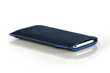 Fused Suede Case — navy with light blue interior