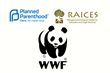 He Started It! will support 3 charities: Planned Parenthood, RAICES, World Wildlife Fund