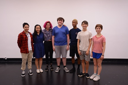 From L to R: Andy Pineda (animation), Celine Nguyen (music), Naseem Alavi (creative writing), Jordan Tierney (theater), Miles Potter (film), Felix Stec (dance), Bailey Small (visual arts) Photo Courtesy: CSSSA