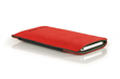 Fused Suede Case — red with ash interior