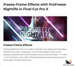 ProFreeze Nightlife - FCPX Tools - Pixel Film Studios