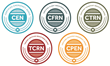 New certification seal logos for BCEN's five emergency nursing specialty certifications.