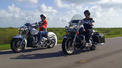 A photo of motorcycle riders