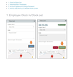 Online Employee Clock in/Out