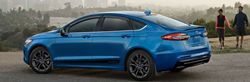 Side profile of the 2019 Ford Fusion