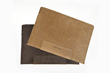 Leather Sleeve — grizzly or chocolate, distressed, full-grain leather