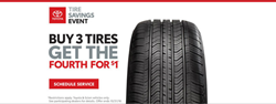 Tire Savings Event Banner for Alexander Toyota