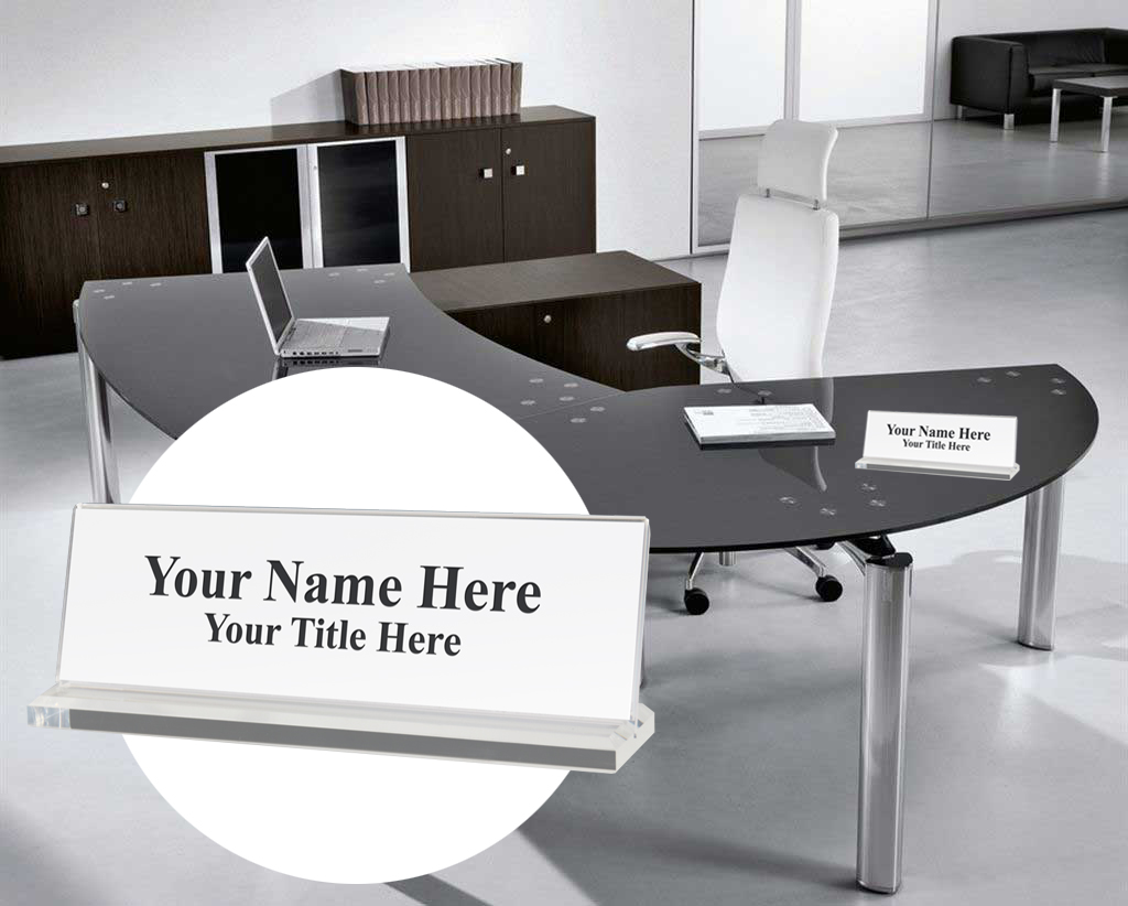 Desk Name Plate Holders In Several Modern New Styles Launched By