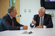 Congressman Steny Hoyer and Thompson Creek Window Company President Rick Wuest discuss how government and business can work together to promote manufacturing in America.