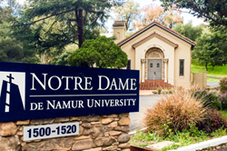 Notre Dame de Namur University Campus Entrance