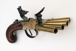 Duck's foot pistol, Cody Firearms Museum