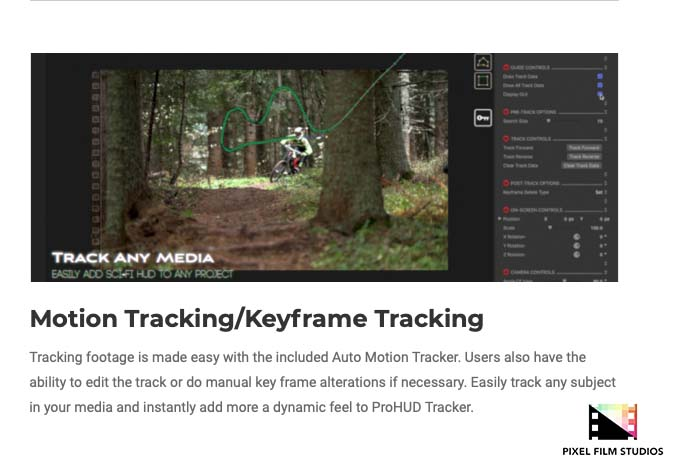 Developers at Pixel Film Studios Announce ProHUD Tracker for Final