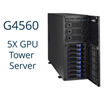 The new G4560 5xGPU tower server is ideal for high-performance computing, artificial intelligence, deep learning, and massively parallel computing environments