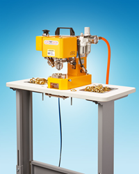 The ClipsShop® Adjustable Work Table for the CS-TIDY-41 Pneumatic Grommet Machine is designed to increase user comfort and accommodate the different physical dimensions of various projects.