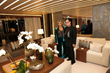 Loren and JR Ridinger on board the family superyacht, Utopia IV, to celebrate daughter and millennial entrepreneur, Amber Ridinger-McLaughlin's launch party for Lumiere de Vie Hommes.