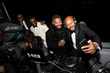 Jamie Foxx poses with DJ D-Nice as Foxx co-hosts a launch party for the new line of men's skin care, Lumiere de Vie Hommes , on board the Utopia IV superyacht.