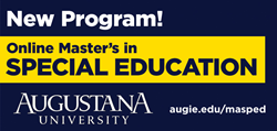 The Master of Arts in Special Education program at Augustana is offered to those who hold a bachelor's degree in education and hold a current teaching license.