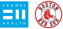 Fenway Health and Boston Red Sox logos side by side