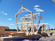 he raising day is an exciting event for all involved with a timber frame project. Here New Energy Works was raising the frame for a private home near Rochester, NY.