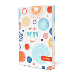 "Live Happy's ""On a Positive Note"" journal and notebook, in collaboration with Corso, offers inspiring quotes, tips, statistics and activities in addition to space to jot down work notes, grocery lists and your daily gratitude list."