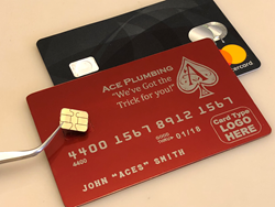 gloss red metal credit card upgrade