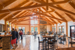 Timber frame truss roof systems and full frames allow for larger open expanses that are well suited to commercial/public gathering spaces.