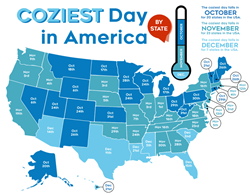 Coziest Day of the Year (in each state)