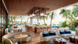 DUNE's outdoor dining terrace at Auberge Beach Residences & Spa