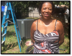 The non-profit lender SELF helped this homeowner get a new energy-efficient air conditioner with a payment she can afford.