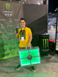 Supercross fan Jesse Hebert wins $1 million in the Monster Millions consumer sweepstakes at the Monster Energy Cup event in Las Vegas