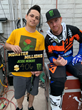 Supercross fan Jesse Hebert wins $1 million in the Monster Millions consumer sweepstakes at the Monster Energy Cup event in Las Vegas with Monster Energy's Ryan Villopoto