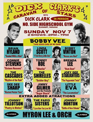 Original Dick Clark Caravan Of Stars Jumbo Window Card Concert Poster