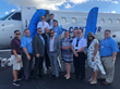 AeroVision and Contour Airlines teams co-exhibiting at the 2018 NBAA-BACE Static Display in Orlando, FL.