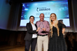 Yossi Atias, General Manager, IoT Security accepting the 2018 Broadband World Forum Award - Network Security for Dojo by BullGuard