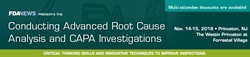 FDAnews Announces: 1 Week Until Conducting Advanced Root Cause...