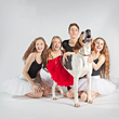 Indiana Ballet Conservatory Dancers and Heidi from Indy Humane