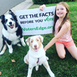 Dog, child, Voter's Edge sign, cavotes, elections, midterms, California, voting gudie