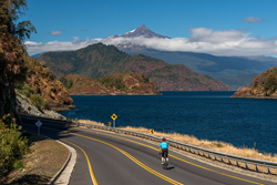Bike tours in the Chilean volcano district with Trek Travel.