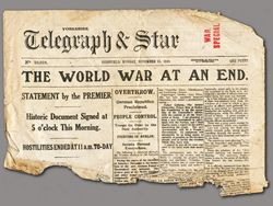 WWI Armistice Headlines CREDIT:  Roger Butterfield https://www.flickr.com/photos/roger/8231013958