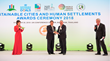 Coast Chairman and CEO David M. Hickey receives the Global Model of Green Mobility Award at the United Nations Conference Center, Bangkok, Thailand.