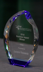 Lucena Research Receives Innovation Award for Business Impact