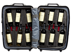 Open Wine Suitcase