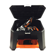 WORX Storage Step Stool has bin and pull-out drawer storage.