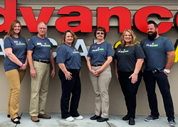 The Advance Financial team overseeing the Johnson City online resource center.