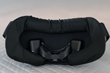 Premium microfiber sleep mask with easily adjustable rear head strap. The detachable sleep mask is machine-washable. The removable silicone nose piece can be washed in the sink with gentle soap.