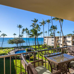Oceanfront View from a Knowles Maui Condo