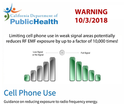 California Department of Public Health - Bad Reception Increases Microwave Radiation From Smartphone By 10000 Times