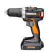 WORX 20V Brushless Drill & Driver features Pulse-assist, which helps loosen stubborn screws and prevents stripping of screw heads.