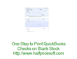 Print on Blank Check Stock with Quickbooks