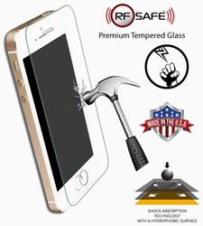 "RF Safe smartphone screen protector shockproof 9H flexible nano-glass.  RF Safe Screen Protectors are ""Made In the USA"" using the latest industrial CO2 lasers and software for mass production"